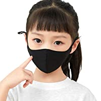 クローバーデポ マスク 3枚 接触冷感 アイスシルク 布マスク 夏用 洗えるマスク 個包装 布 クールマスク 大人用 子供用 女性用 uvカット 小さめ d2710081 子供サイズ ブラック(3枚セット)