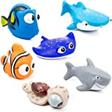 Toytops Jouets de Bain pour Bébé, Trouver Dory Nemo Bath Squirters Jouets de Bain pour bébé et Tout-Petit Jouets Douche et Natation 6 Pièces