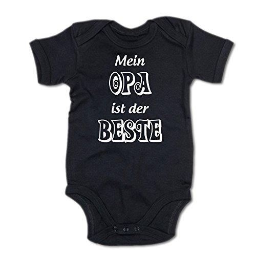 Mein Opa ist der Beste Baby Body Suit Strampler 250.0194 (0-3 Monate, schwarz)