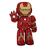 IncrediBots Marvel Avengers Iron Man 3D Posable Wood Puzzle & Model Figure Kit (65 Pcs) - Build & Paint Your Own 3-D Toy - Holiday Educational Gift for Kids & Adults, No Glue Required, 8+