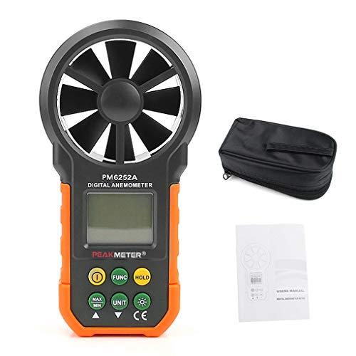Hyelec MS6252A Digitales Luftgeschwindigkeits-Anemometer/Luftvolumen/Luftmengenmessgerät
