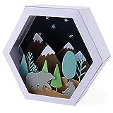 Sizzix Set de Troqueles Thinlits 28 pzas 664582 Caja, Invierno de Jessica Scott, Escena Box-winter, Talla única