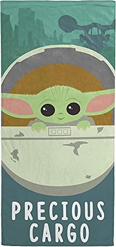 Yoda - Toalla de playa de Star Wars suave y esponjosa, ligera y de secado rápido, la mejor opción para spa, deporte, yoga, viajes (Yoda1, 90 cm x 180 cm)