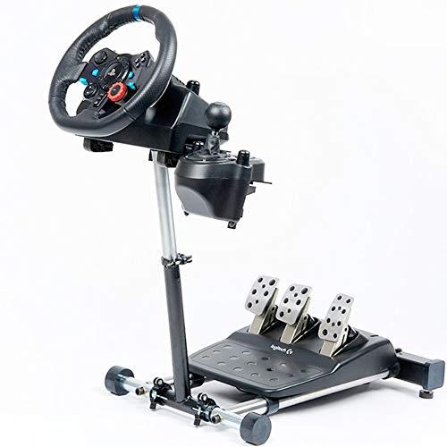 ホイールスタンド 2020年 プロ レーシングホイールスタンド ロジテック Logitech G29, G920, G27 & G25 Wheels, Deluxe, Original V2 対応/Z-404 [並行輸入品] (Logitech用ホイールスタンド(ブラック))