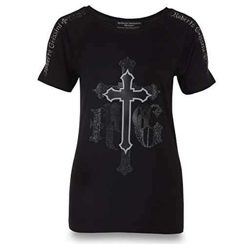 T-Shirt Black Cross Women Black S