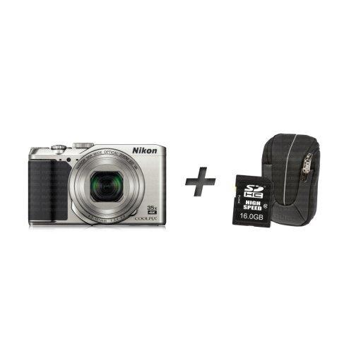 Nikon COOLPIX A900 + Tasche + Speicherkarte – Silber