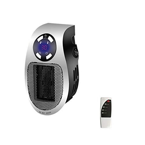 Tropicano Plug Heater Mini Cerámico Portátil, Ligero Y Compacto, Calefactor Sin Cable, Termostato Programable, 2 Intensidades De Caudal, Modo Enfriamento, 500 W,Blanco