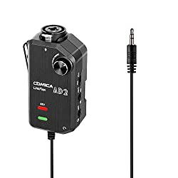 in budget affordable CoMica LinkFlex AD2 XLR / 6.35-3.5mm Microphone Preamp Audio Adapter Universal…