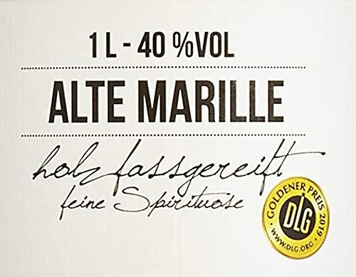 BIRKENHOF Brennerei | Alte Marille - feine holzfassgereifte Spirituose | (1 x 1l ) - 40 % vol. - 2