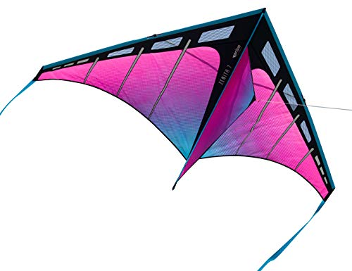 Prism Kite Technology Zenith 7 Ultraviolet Single Line Drachen mit Schnur, Kurbel und Reisetasche