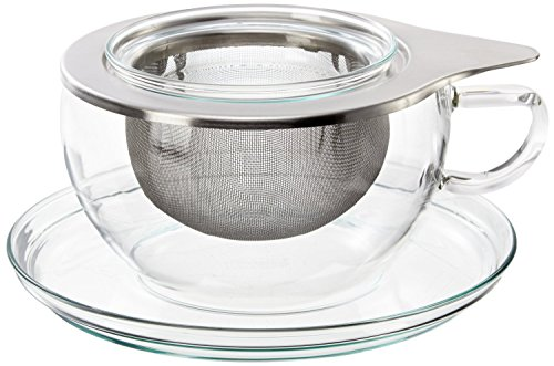 Trendglas Jena Tea Time Teetasse mit Deckel u. Edelstahlfilter, 0,4 l