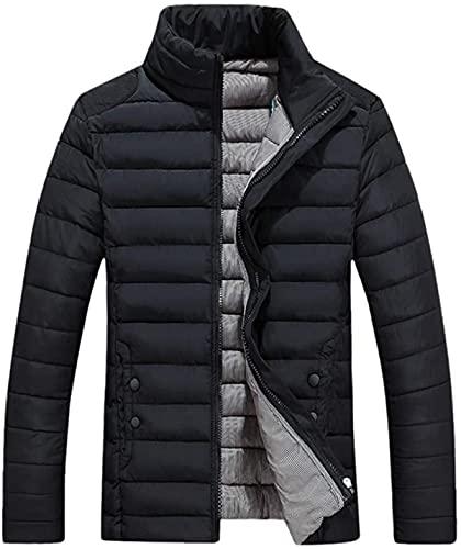 Winter Leisure Down Jackets Men's Zipper Pocket Stand Collar Coat Outwear Tops
