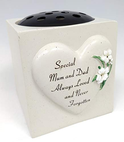 David Fischhoff Special Mum And Dad Lilly Heart Grab Rose Schale Ornament Grab Blumentopf