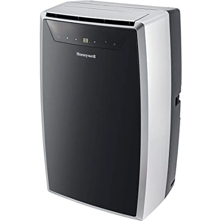 Honeywell Classic Portable Air Conditioner with Dehumidifier & Fan Cools Rooms Up To 500 Sq. Ft. w Drain Pan & Insulation Tape, (Black/Silver) MN1CFS8, 29.400