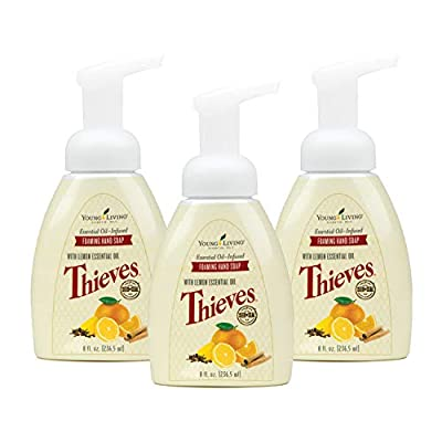 Thieves Foaming Hand Soap by Young Living, 3-Pack (8 Ounces)