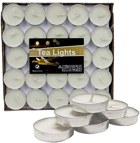 IronBuddy 50Pcs Scented Tea Light Candles 1 5 2 Hours Burn Time Smokeless Tea Light Candles product image