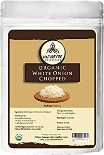 Naturevibe Botanicals Organic White Onion Chopped, 1lb | Non-GMO and Gluten free | Read to cook