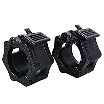 LKXHarleya 2pcs Olympic Barbell Collars Quick Release 1 inch Weight Bar Clips Locking Clamps for Pro Weight Lifting Fitness Training Workout