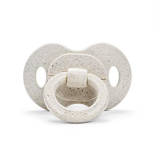 Elodie Details Baby Schnuller aus Bambus ab 3 monaten - Kiefergerechte Form - Silikon - Lilly White, Weiss