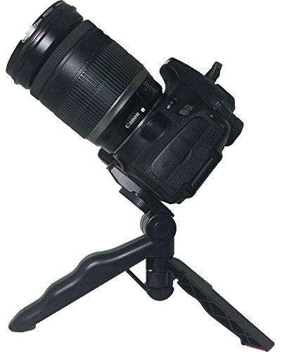 Mini Tripod Table Stand with Pads and Soft Pistol Grip for DSLR 1/4