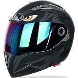 LKOP Casco De Motocicleta Modular Flip Up Double Sun Visor Casco Completo, Casco Certificado De ECE, Casco De Motorbike De Four Seasons para Hombres Jóvenes Mujeres F-XL