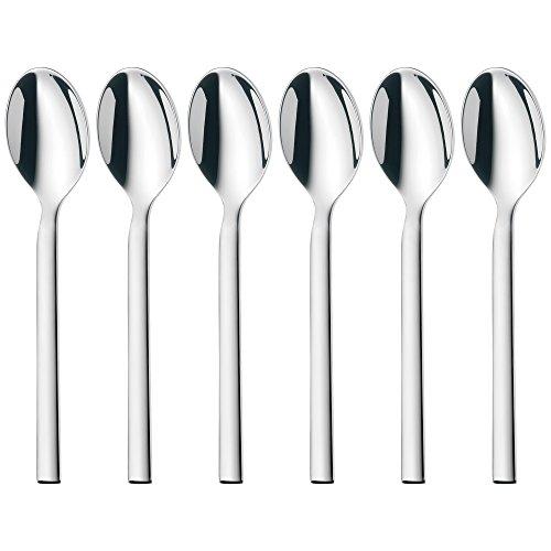 WMF Lyric-Juego de cucharas de café (6 Unidades, Acero Inoxidable Cromargan Protect), Plata, 8 x 1 x 8 cm