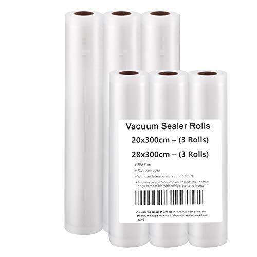 Vacuum Sealer Rolls(3m) (20x300(3 rolls)+28x300(3 rolls))
