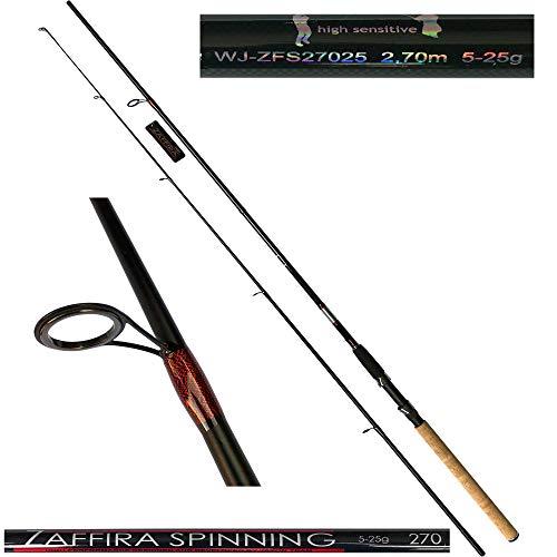 Jaxon Angelrute Zaffira Spinning 2,70m Steckrute Spinnangel Spinnrute WG 5-25g
