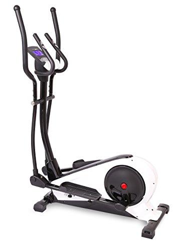 SportPlus Crosstrainer mit App Steuerung, Kinomap, Ergometer bis 240 Watt, ca. 18kg Schwungmasse, 24 Widerstandsstufen & Traininsprogramme, Nutzer bis 130kg, Ellipsentrainer, Sicherheit geprüft
