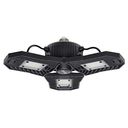 LED Garage Lights, 60W Triple Glow Garage Ceiling Light, High Bay Deformable LED Corn Light Bulbs with 6000LM 6000K Daylight,UFO LED Low Bay Light for Basement Garage Workshop Warehouse,ETL Listed