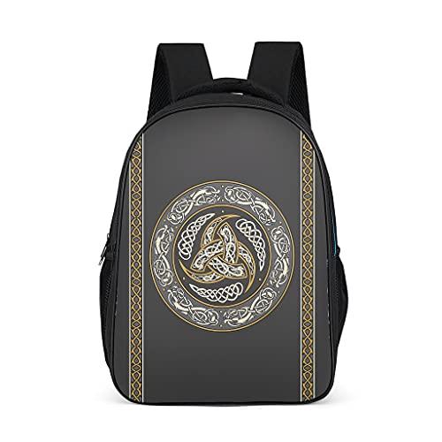 Mochila de triple cuerno Odin Viking para niños y adolescentes y adultos bolsas de libros escolares regalos para niños y niñas