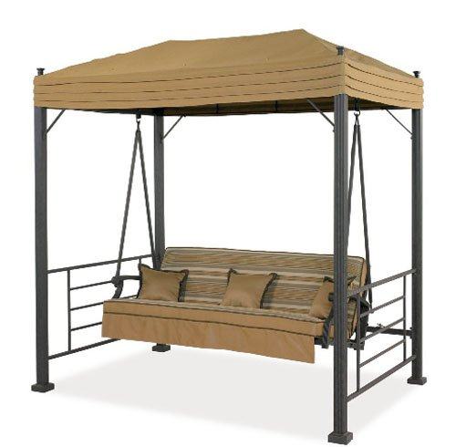 Garden Winds Replacement Canopy Top Cover for Sonoma Swing, Palm Canyon Swing, and Sydney Swing