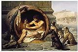 REGF Cuadro del Cartel 30x50cm Sin Marco Pintura, póster de Arte clásico de filósofo Griego y Cuadro artístico de Pared, decoración Moderna para Dormitorio Familiar