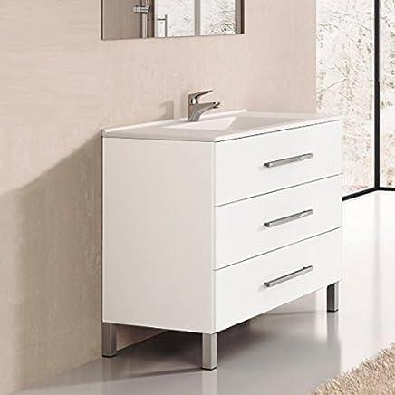 Amazon.fr : meubles vasque salle de bain 100 cm - Salle de ...