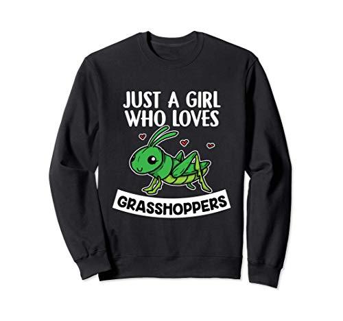 Just A Girl Who Loves Grasshoppers Disfraz De Saltamontes Sudadera