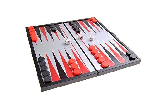 Quantum Abacus Magnetisches Brettspiel (kompakte Reisegröße): Backgammon - magnetische Spielsteine, Spielbrett zusammenklappbar, 19cm x 19cm x 1cm, Mod. SC6602 (DE)