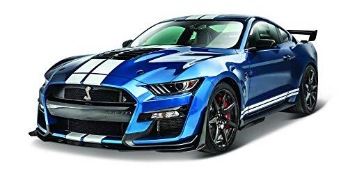 Maisto- Mustang Shelby Gt500 del 2020 en Color Azul y en Escala 1/18 31388B