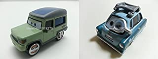 ้็็Hand Mate Cars Toys Pixar 1:55 Scale Diecast Miles Axlerod & 2 Professor Z with Glass Metal Toy