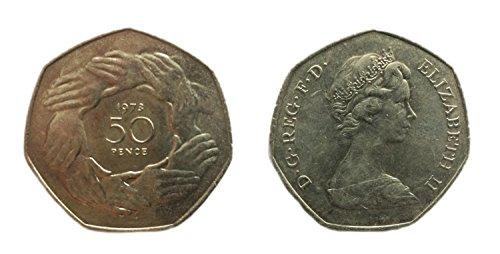 Münzen für Sammler - Unzirkuliert 1973 britischen Fünfzig Pence / 50p-Münze / Großbritannien