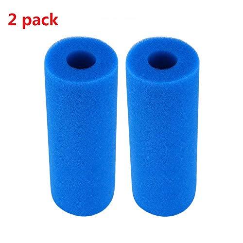 Piscina Filtro, Cartucho de filtro de piscina para Intex tipo A, filtro esponja reutilizable lavable reemplazo filtro limpiador herramienta cartucho de espuma esponja de PU compatible con tipo A