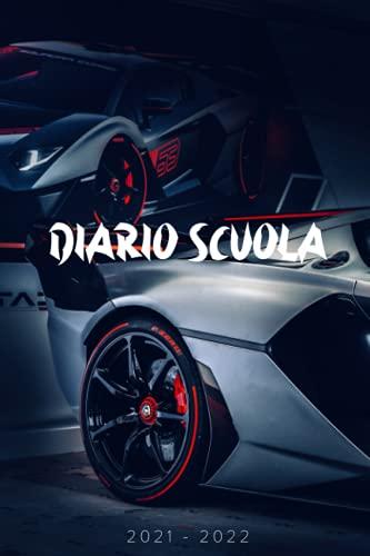Diario Scuola Auto Sportivo: Pianificatore Giornaliero Per Ragazza e Ragazzo | Diario Scolastico 2 Giorno Per Pagina ( Settembre 2021 a Luglio 2022 )