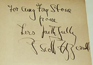 F. Scott Fitzgerald Inscribed, Signed Endpaper (Flyleaf) to Amy Fay Stone