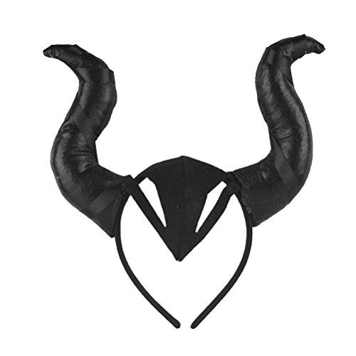LUOEM Traje de Halloween Toros Cuernos Diadema Cuerno de Buey Cosplay Headwear Apoyos de la Foto del aro del Pelo Regalos de Halloween para los Amigos