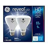 GE Lighting 30691 Reveal HD+ LED Light Bulbs, 700 Lumens, 9-Watts, 2-Pk. - Quantity 1 (n/a)