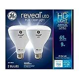 GE Lighting 30691 Reveal HD+ LED Light Bulbs, 700 Lumens, 9-Watts, 2-Pk. - Quantity 1 (n/a)