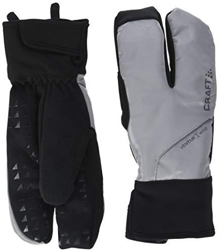 Craft sibirische Handschuhe, 3 Finger, Glow, Langlauf, Unisex, Erwachsene, Silber/Schwarz, FR: L (Größe Hersteller: 10 L)