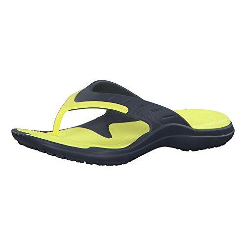 Crocs Crocs Unisex-Erwachsene MODI Sport Flip Zehentrenner, Blau (Navy/Tennis Ball Green), 42/43 EU