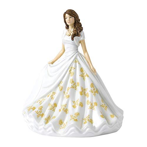 Royal Doulton Birthstone Petite Statuetta, Rosa, 17cm
