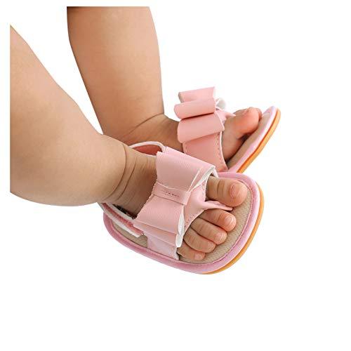 YWLINK Sandalias De Verano Unisex para NiñOs, con Lazo, para Caminar, para Bebé, Material De Goma Suave, Antideslizantes, Planas, Sandalias De Verano A La Moda