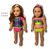 American Girl  Lea's Mix & Match Swim Set for 18' Dolls 2016